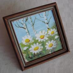 Miniatura peisaj cu flori (1) - Tablou autor neidentificat, Realism