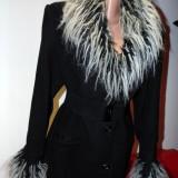 Palton dama, Negru, L - Palton trendy