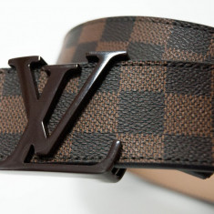 LOUIS VUITTON CUREA PIELE NATURALA UNISEX MODEL DAIMER GRAPHITE MADE IN FRANCE - Curea Barbati Louis Vuitton, curea si catarama