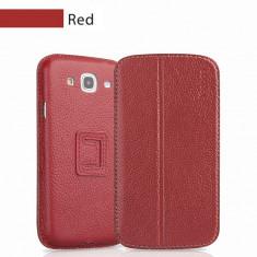 Husa Samsung Galaxy Mega 5.8 i9150 Executive Piele Naturala by Yoobao Originala Red - Husa Telefon Yoobao, Rosu, Cu clapeta, Toc