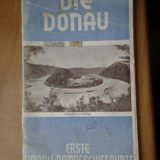 Carte Geografie - Die Donau - Erste Donau-Dampfschiffahrts Gesellschaft Wien Dunarea Dunare traseu turistic tarile strabatute fluviu 50 ilustratii reclame interbelica