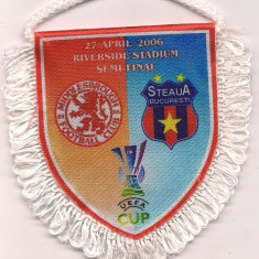 Fanion fotbal - Fanion- STEAUA BUCURESTI-FOOTBALL CLUB MIDDLESBROUGH -2006