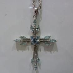 Colier aur 14k cu aquamarine 2ctw . vezi multe produse noi - Colier aur alb