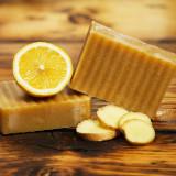 Ginger Lemon - Sapun natural fin (bio - la rece) cu ghimbir si lime (lamaie verde)