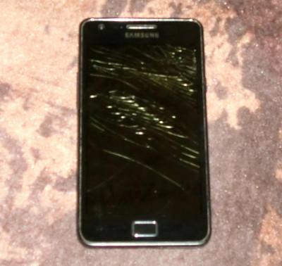 Samsung Galaxy S2 i9100 DEFECT cu Display spart,pentru piese foto