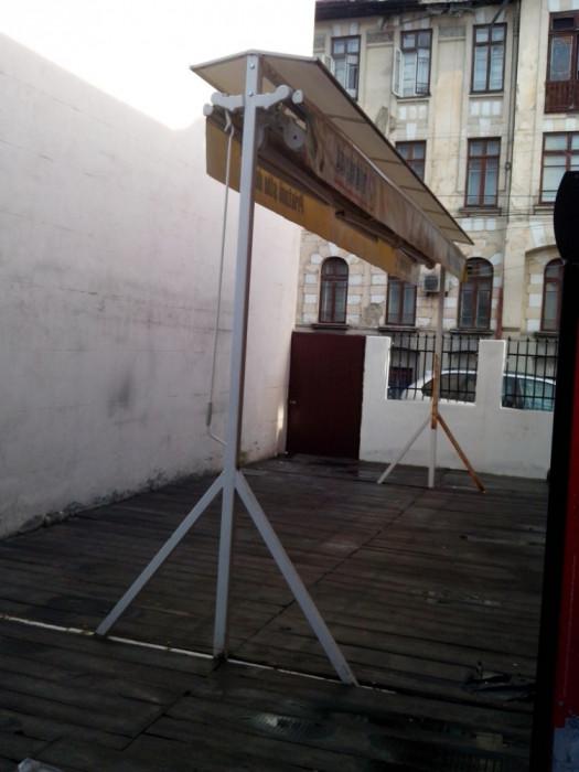 Marchiza de terasa / gradina 6mX5m stare perfecta estetic si functional (copertina prelata umbrela pavilion parasolar ) foto mare
