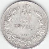 Romania moneda Argint 250 lei 1939 - Moneda Romania