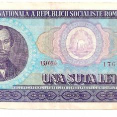 Bancnote Romanesti - LL bancnota Romania 100 lei 1966 XF+