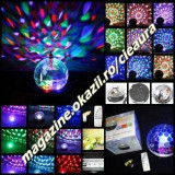 Echipament DJ - GLOB LUMINOS TRANSPARENT TELECOMANDA RGB INDOOR LED CRYSTAL MAGIC BALL USB MP3 SOUND REMOTE CONTROL Stage Effect Light ECHIPAMENTE DJ PARTY BAR CLUB