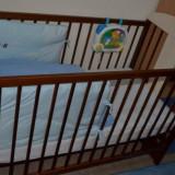 Patut lemn pentru bebelusi, 1-3 ani, Alte dimensiuni, Maro - Pat copil pentru 0-3 ani