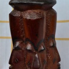 Arta din Africa - OBIECT DIN LEMN MASIV DINTR-O BUCATA, LUCRAT MANUAL - AFRICA