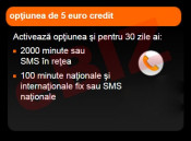 Credit Cartela Orange Prepay - Optiunea de 5 euro cu 2000 minute / SMS in retea + 100 minute / SMS nationale + BONUS 10 minute nationale foto