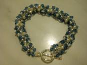 bratara lucrata manual/handmade din margele de nisip+perle Swarovski+cristale Swarovski-mai multe modele si culori foto