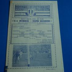 Program meci fotbal Petrolul Ploiesti - Rapid Bucuresti 11.03.1986