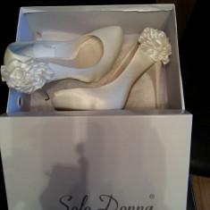 Pantofi mireasa Benvenuti - Pantofi dama, Marime: 38, Culoare: Alb, Alb