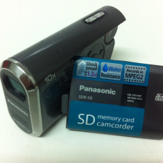 Camera Video PANASONIC SDR-S9EG-S, Card Memorie