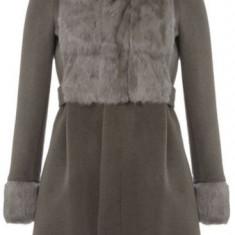 Palton dama Kenzo, blana de iepure, marimea 36, gri