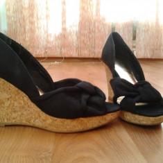 Sandale platforma H&M - Sandale dama H&m, Marime: 37, Culoare: Negru, Negru