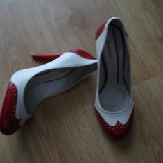 Pantofi dama, Marime: 39, Alb - Pontofi BERSHKA