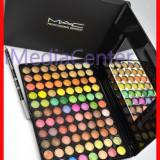 Trusa make up Mac Cosmetics - Trusa machiaj profesionala 88 culori MAC trusa farduri 3 D farduri sidefate metalice pigmentate rezistente pe pleoape + CADOU Creion MAC !