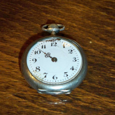 Ceas de buzunar de argint, elvetian, marcaje multiple - Ceas de buzunar vechi