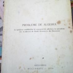 Probleme de algebra - in sprijinul canditatilor la concursul de admitere la specializarile ASE - Curs Economie