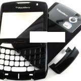 Vand Carcasa BlackBerry 8330 Verizon Neagra Black Negru Noua Rama Fata cu Geam, Capac Spate de la Baterie