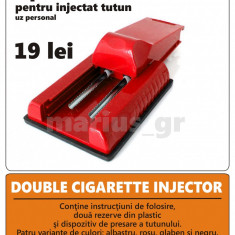 Aparat rulat tigari - DUBLU - Aparat pentru injectat tutun in tuburi de tigari