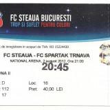bilet de meci-FC Steaua Bucuresti-FC Spartak Trnava 2 august 2012