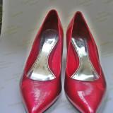 Pantofi dama, 38 2/3, Rosu - Pantofi EDC rosii, clasici