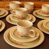 Set / Serviciu- ceai / cafea / desert / farfurii - portelan englezesc - Coloroll - 6 persoane