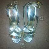 Sandale aurii mas. 37 NOI - Sandale dama, Culoare: Auriu, Auriu