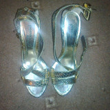 Sandale dama, Marime: 37, Auriu - Sandale aurii mas. 37 NOI