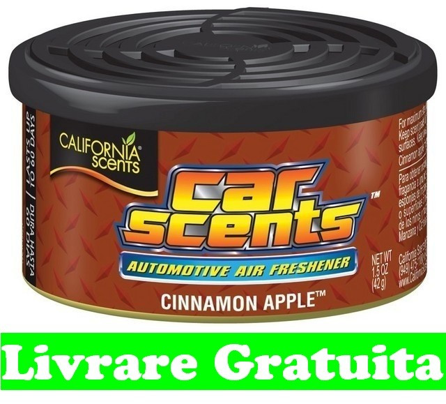 Odorizante auto California Car Scents odorizant Chinamon Apple foto mare
