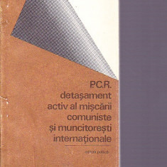 Istorie - P.C.R. DETASAMENT ACTIV AL MISCARII COMUNISTE SI MUNCITORESTI INTERNATIONAL