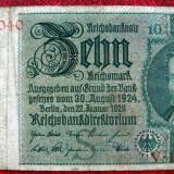Bancnota Straine, Europa, An: 1929 - Germania 10 Mark Marci 1929