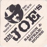 Cartonas de colectie - Suport de pahar / Biscuite PAPA JOE'S