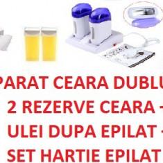 Produse epilare - APARAT CEARA DUO CU BAZA CEARA KIT EPILARE SET EPILAT INCALZITOR CEARA DUBLU