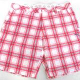Pantalon scurt barbati Puma Golf Check 554213, ORIGINAL, poliester, rosu/roz/alb - Pantaloni barbati Puma, Marime: 34, 36, 38, Culoare: Multicolor, Scurti