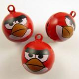Accesorii bijuterii: coliere, bratari - Clopotel Angry Birds Rosu Rosie 23x18MM