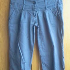 Pantaloni de vara dama - Pantaloni dama, Culoare: Bleumarin, Scurti, Bleumarin, Panza