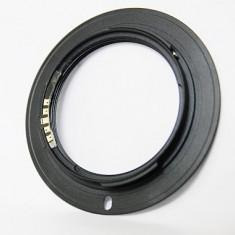 Inel adaptor obiectiv foto - Adaptor M42 la Sony A Alpha SLT DSLR, Minolta AF, confirmare focus + capac