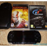 PSP 3004 Gran Turismo Edition ! + Card sony 4gb + Cablu de date + 3 umd-uri + husa +incarcator