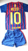 Echipament tricou + sort FC BARCELONA - MESSI