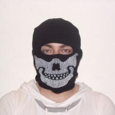 Cagula craniu de culoare neagra, masca protectie fata, scuter, ski, airsoft - Echipament Airsoft