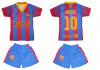 COMPLEU SORT + TRICOU COPII  FC BARCELONA MESSI   MODEL 2013-2014 LIVRARE GRATUITA