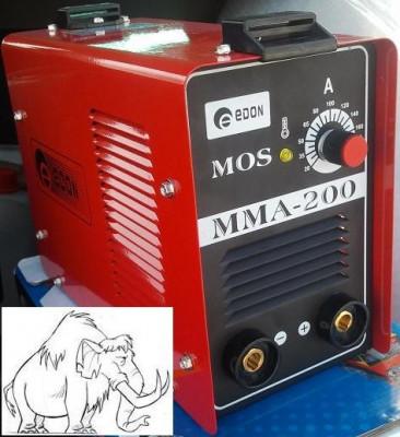 Aparat de sudura Inverter (invertor) eDON MMA-200 de 200 Amperi !!! (cu electrozi inveliti bazici/supertit/inox) foto