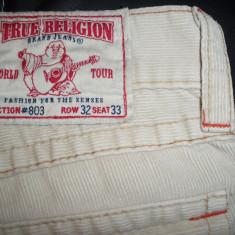 Blugi barbati - Blugi True Religion, Made in USA; marime: 32/33: 86 cm talie, 106 cm lungime