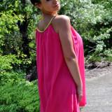 Rochie de cocktail roz