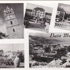 Carti Postale Romania dupa 1918 - RPR, CP scrisa si necirculata, Baia Mare, colaj